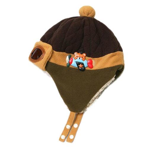 66728321 Fashion Winter Baby Kids Warm Earmuffs Hats Plush Flight Caps Pilot Style Cap  Gift-Khaki on OnBuy