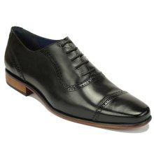 Scott Williams Men's Quincy Black Leather Shoes