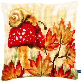 "Autumn Scene Cushion Cross Stitch Kit-16""X16"""