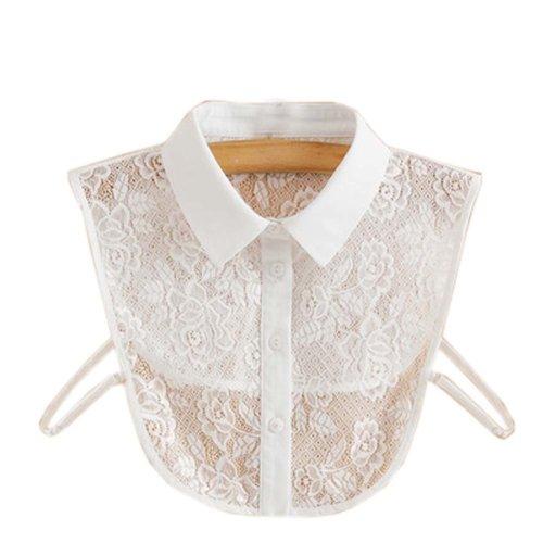 Trendy Detachable Lace Collar Fake Collar All-match Fake Half Shirt for Women, #08