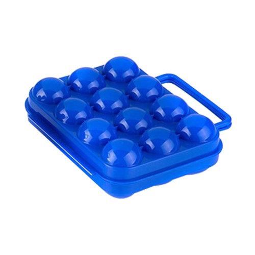 Kitchen Plastic Egg Storage Boxes Eggs Holder Eggs Trays 12 Grid Blue