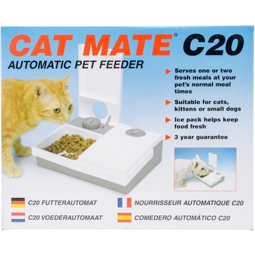Cat Mate C20 Auto Feeder-White/Gray