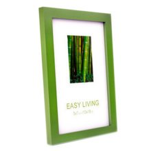 Decorative Wood 4-by-6-Inch Picture Photo Frame, Set Of 2, Green