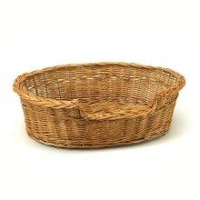 Small Willow Dog Cat Pet Wicker Basket
