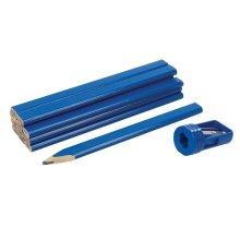 13 Piece Silverline Carpenters Pencils & Sharpener Set