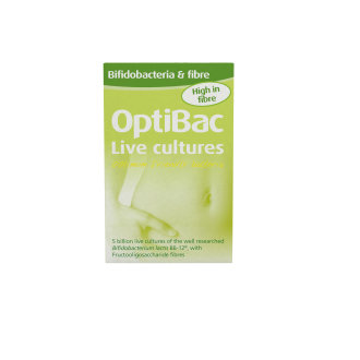 OptiBac Probiotics 'Bifidobacteria & fibre', Pack of 30 Sachets