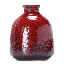 Home/Office Cute Chinese Vase Decor Vase Mini Vase Small Vase, Red