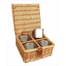 4 Mug Tea Coffee Drinks Basket
