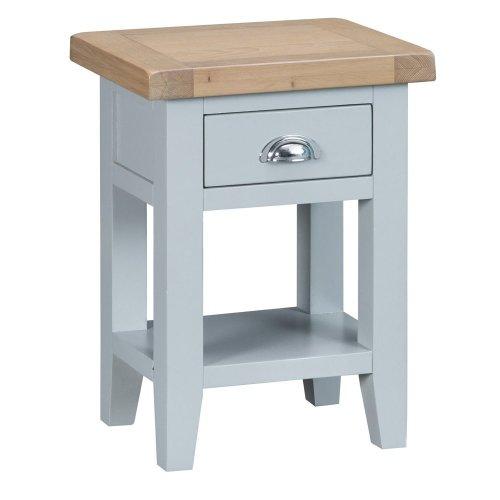 Suffolk Grey Painted Oak Side Table