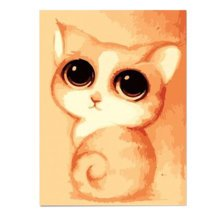 [Adorable Kitty]DIY Art Digital Oil Painting Canvas Prints Wall Art(15.7*11.8'')