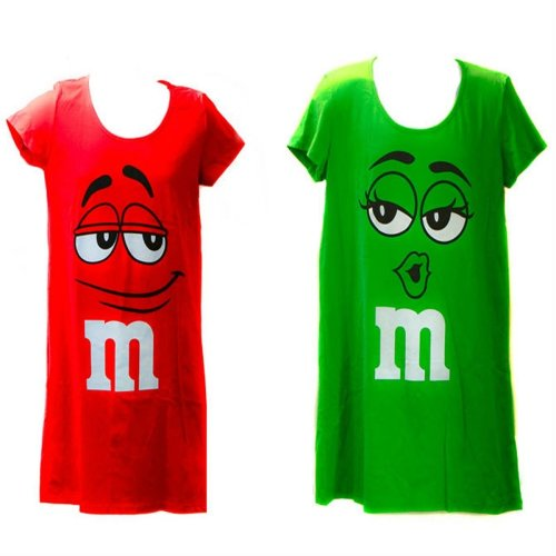 Women's Cotton Nightshirt - M&M's Chocolate Candy