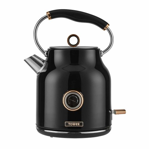 Bottega Traditional Kettle, Stainless Steel, 3kW, 1.7l, Black and Rose Gold