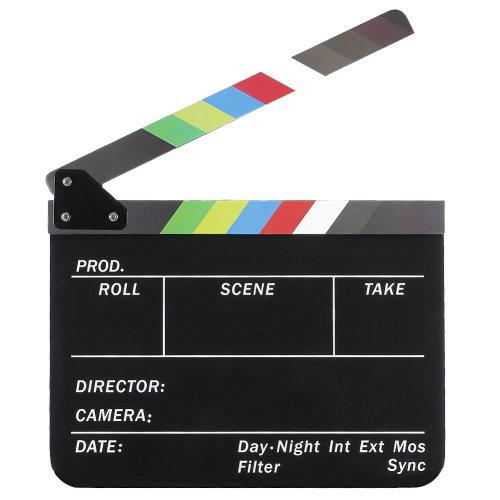 Trixes Film Director Clapperboard - Coloured Slates   Film Clapper