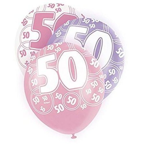 Age 50 Birthday Balloons Pink Glitz On OnBuy