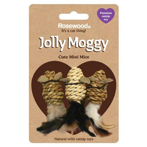 Rosewood Jolly Moggy Wild Catnip Mini Mice Toy
