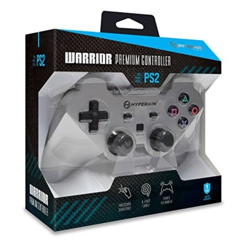 "Hyperkin ""Warrior"" Premium Controller for PS2 (Silver)"