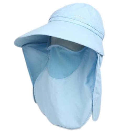 Summer Hat Sun Flap Cap Detachable Wide Brim Womens Neck Cover Face Mask UPF 50+