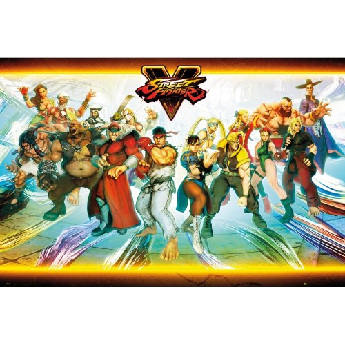 Street Fighter 5 Characters Maxi Poster