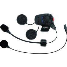 Sena SMH5-UNIV Bluetooth Headset & Intercom for Scooters and Motorcycles with Universal Microphone Kit - Black