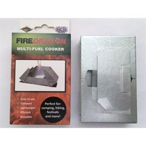 BCB CN337 Fire Dragon Solid Fuel Folding Cooker With Windbreaker
