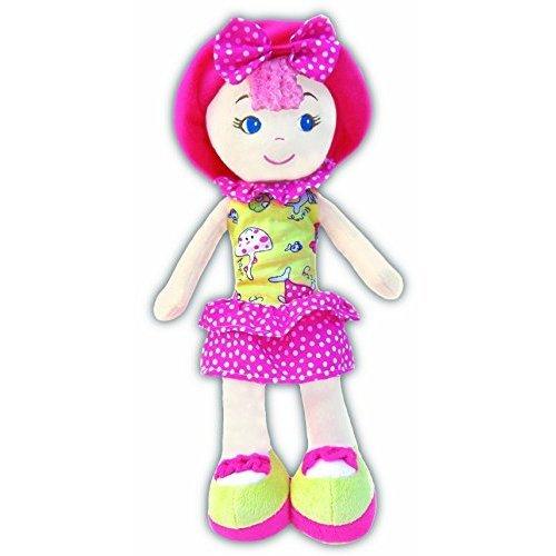 GirlznDollz Leila Polka Dot Cutie Baby Doll, Yellow/Pink
