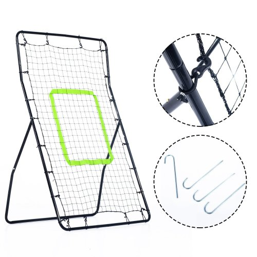 Homcom Rebounder Net Playback Football Game Target Ball Rebounders