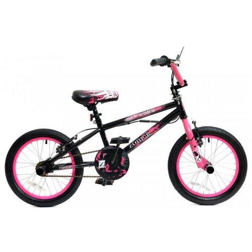 "Zombie Outbreak Girls Kids Freestyle BMX Bike 16"" Wheels Giro 360 Stunt Pegs"