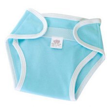 Adjustable Blue Cotton Washable Infant Baby Diapers