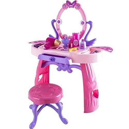 deAO Glamorous Princess Dressing Vanity Table with Mirror