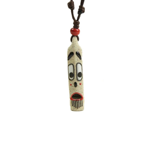 China Material Hand-painted Whistle with Lanyard Fashionable Necklace