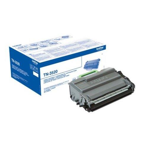 Brother Tn-3520 Cartridge 20000pages Black Laser Toner & Cartridge
