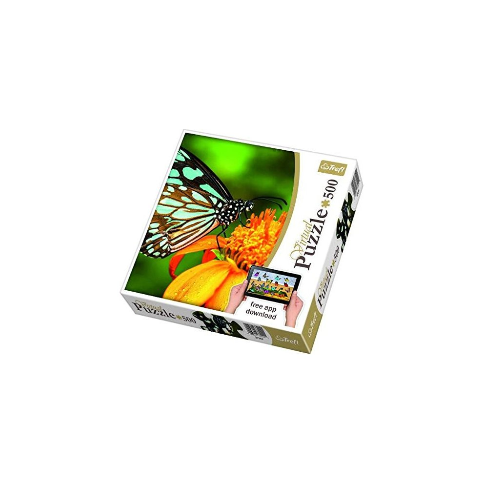 Trefl 37243 - Butterfly - 500 pieces jigsaw puzzle (with App-Download)