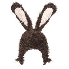 Kids Boys Girls Keep Warm Head Cap Lovely Fashion Hats Long Rabbit Ears Hat-A1