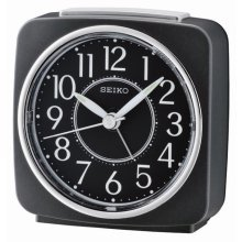 Seiko Beep Alarm Clock with Snooze - Black (QHE140K)