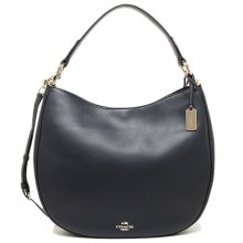 COACH Nomad Hobo in Glovetanned Leather Handbag - Navy - 36026-LINAV