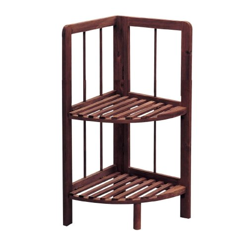 Pleasant Knight Knox 2 Tier Wooden Corner Shelf Dark Colour Easy To Store Sturdy And Durable Download Free Architecture Designs Itiscsunscenecom
