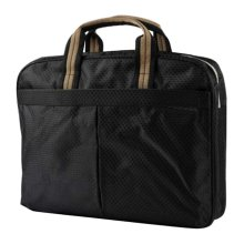 Multilayer Thicker File Holder Zippe Briefcase Information Bag-Black2