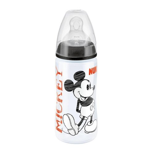 NUK Mickey First Choice+ 300ml Bottle Size 2 Black 6-18m