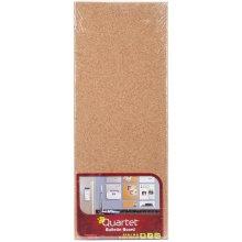 "Quartet Cork Bulletin Board Tile 5.5""X14""-Brown, Modular"