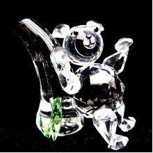 Cut Crystal Backscratching Teddy Bear Ornament