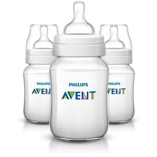 Philips Avent  Classic+ Feeding Anti-colic Bottle 260ml/9oz Triple Scf563/37