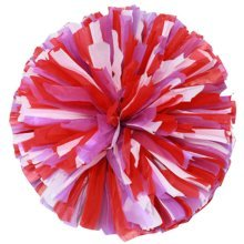 2 Pcs Multicolor Cheerleading Cheer Pom Poms Sports Dance Cheerleader Pom Poms