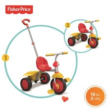 Fisher-Price Glee Trike Baby Tricycle for 18 Months Old, Red and Yellow