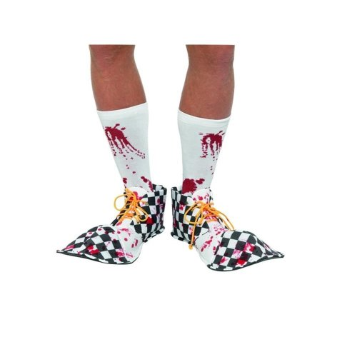 Bloody Clown Shoe Covers, Halloween Cirque Sinister Fancy Dress, One Size