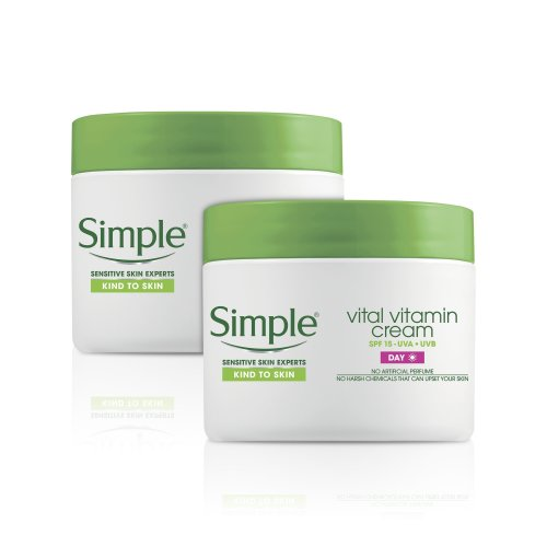 Simple Kind To Skin Vital Vitamin Day Cream SPF 15 Pack of 2 x 50ml