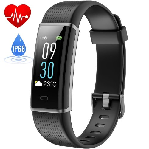 Fitness Tracker Waterproof IP68, HETP Colour Screen Fitness Watch Activity Tracker with Heart Rate Monitor for Kids women men,Smart Bracelet Sleep...
