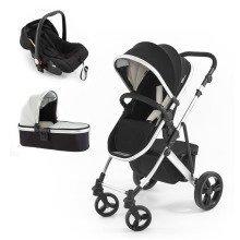Tutti Bambini Riviera 3 in 1 Silver Travel System Silver - Black/cool Grey