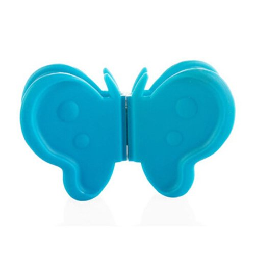 Cute Creative Butterfly Plate Clamps Pot Holder Anti-scald Tray Clips,BLUE
