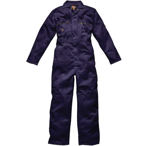 Dickies WD4839 Redhawk Overall with Zip Front, 46R, Navy Blue