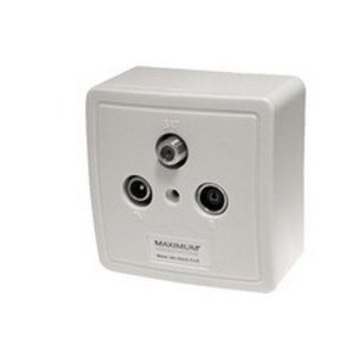 Maximum 1208 White outlet box